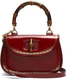 12473f27a4c4 Gucci - Bamboo Handle Leather Bag - Womens - Red 구찌 핸드백, 가죽 핸드백,