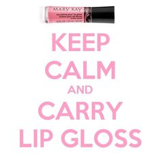Keep calm and carry lipgloss!