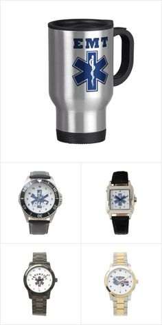 EMT Paramedic EMS Watches: EMT Paramedic Watches With EMS logos for first responders perfect gift for responding to 911 emergencies.