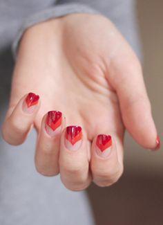 double chevron nails  #nail #nails #nailart