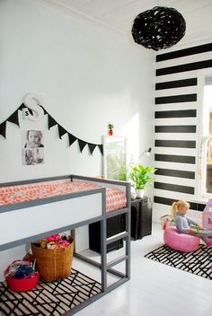 ikea kura bed - can be a bunk bed or single bed with play area, can also flip upside down