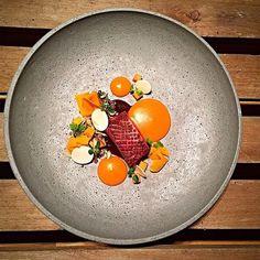 Duck breast, pumpkin, wild mushrooms