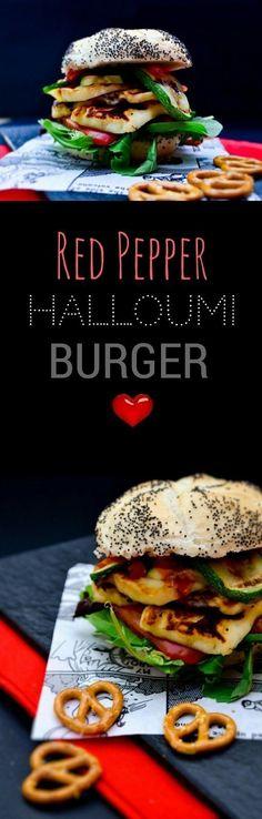 A stacked halloumi a