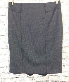 White House Black Market Size 4 Black Flounce Pencil Skirt Stretch Poly Career #WhiteHouseBlackMarket #StraightPencil #Career