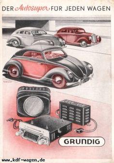 VW - 1951 - Der Autosuper für jeden Wagen. Grundig - [2455]-1 ...Please save this pin.  Because for vintage collectibles - Click on the following link!.. http://www.ebay.com/usr/prestige_online