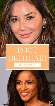 Root Beer Hair Is Trending and It Looks...Delicious? #purewow #hair #trends #beauty #tip