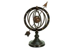 HOME DECOR – ART – ACCENT – Armillary Sphere. This iconic armillary is a must for the library, office, or any other room that would benefit from a classic touch.
