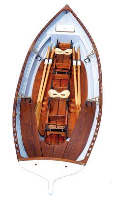 Whitehall Spirit 17 Double Slide Seat Sculling Rowboat