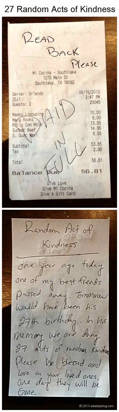 Just when the evening news has us believing the world is a dark and scary place—that love and human kindness are in short supply—someone does something like this...