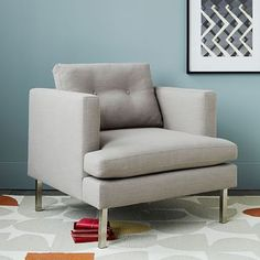 Jackson Armchair #westelm Like 2 of the chairs in the family room with the Dunham sectional chaise sofa
