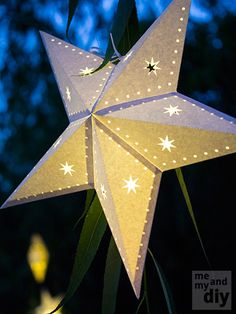 3d paper diamonds cut sheets from cardboard boxes and for Diy star lantern