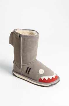 so perfect for Coop!! EMU Australia 'Little Creatures - Shark' Boot (Toddler, Little Kid & Big Kid) available at Nordstrom
