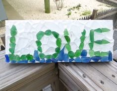 Sea Glass  Love Wall Hanging Home Decor by WaveofLife on Etsy, $75.00