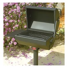 Pilot Rock Steel Covered BBQ Grill with Smoker — 19in. x 22in., Model# EC-26/S B2   Grills Accessories  Northern Tool + Equipment