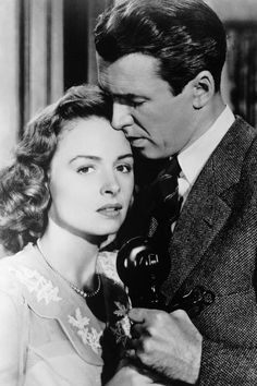 """A very moving scene in """"It's a wonderful life"""" Jimmy Stewart and Donna Reed. See also """"The shop around the corner"""""""