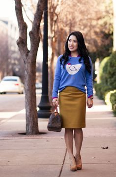 cute pencil skirt outfits - Google Search