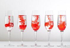 Colored wine glass