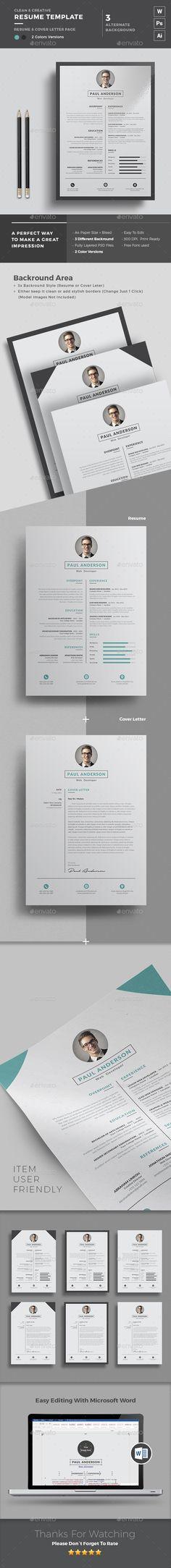 Resume Portfolio Free business cards, Resume cv and Cv design - microsoft resume and cv templates