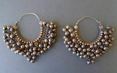 19th Century silver Indian earrings