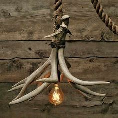 Cabin Lit Chandelier: upcycled shed antlers by Moon Stone Fox – upcycleDZINE