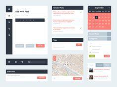 Flat UI Kit 2 (Blog) (Free PSD)