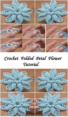 34 Besten Gestrickte Blumen Bilder Auf Pinterest Crochet Flowers