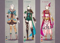 CLOTHES Adopt Set AUCTION {CLOSED} by Avionetca.deviantart.com on @DeviantArt