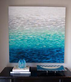 """Original Abstract Art by KELLIE MORLEY - """"Seaside"""" http://www.kelliemorley.com"""