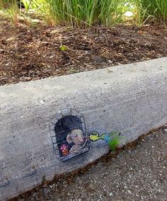 Creative curb art