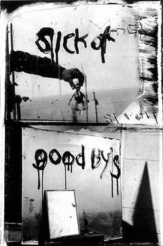 Robert Frank's later work mixed heart-bleed sentiments atop darkroom manipulation