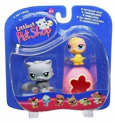 Littlest Pet Shop Pet Pairs Figures Kitty With Chick U0026 Egg By Hasbro. $14.99