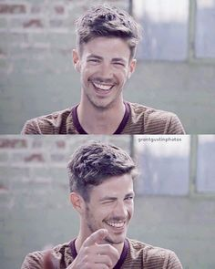 Not Marvel but this is the cutest thing I've ever seen.Grant Gustin aka The Flash The Flash Grant Gustin, Grant Gustin Hair, Dc Comics, Dramas, O Flash, Flash Barry Allen, Snowbarry, Cw Series, Fastest Man