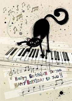 Cat Keyboard | Bug Art Greeting Cards by Jane Crowther by Sandra Horta e Silva