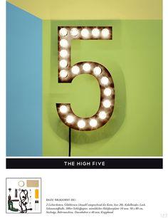 """CUT Magazine #7 - Lampe 2the high five"""" DIY"""