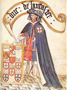 "John of Gaunt, Knight of the Order of the Garter - his armor stood 6'9"" tall. His wife was Catherine Swynford Princess and Duchess of Lancaster Roet. Catherine's sister Philippa was married to Geoffrey Chaucer (Canterbury Tales)"
