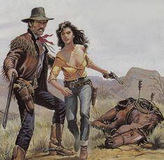 the dead horse Westerns, Tarzan, Cowboy Pictures, Western Comics, West Art, Cowboy Art, Le Far West, Mountain Man, Pulp Art