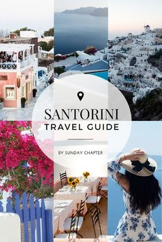 Complete travel guide to SANTORINI - the best towns, attractions, hidden gems, beaches, restaurants & nightlife around the island!