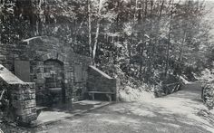 Clarion PA~Cook Forest Memorial Spring~Entrance of Longfellow Trail~1950s…