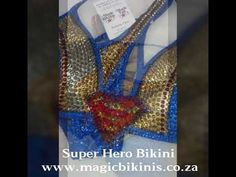 Soar high in this magnificent super girl bikini, be the hero of your own story strong and radiant. Competition Bikinis, Bikini Workout, Supergirl, Blue Gold, Bikini Girls, Sparkles, Rave, Hero, Costumes