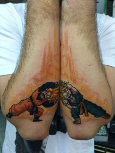 Dragon Ball Z tattoos - Artist: Matt Jordan. Dragon Ball Z is a Japanese anime series spanning 291 episodes, which belongs - Gamer Tattoos, Cartoon Tattoos, Tattoos For Guys, Future Tattoos, Forearm Tattoos, Body Art Tattoos, Sleeve Tattoos, Tatoos, Tattoo Dragonball