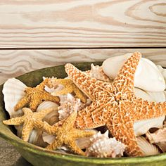15 Beach-Style Decorating Ideas | Use Shells as Accents | SouthernLiving.com
