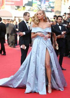 Image result for elsa hosk blue dress cannes