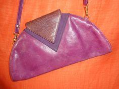 Vintage Handtaschen - Tasche*Vintage*leder*Lila*80er*eighties* - ein Designerstück von SweetSweetVintage bei DaWanda