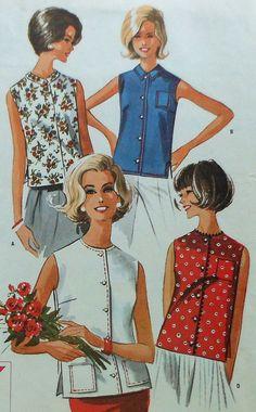 Vintage Sleeveless Shirt Sewing Pattern