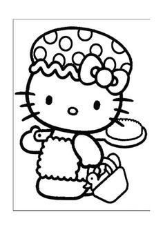 Tegninger til Farvelægning Hello Kitty 19