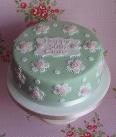 Risultati immagini per cath kidston cake Vintage Birthday Cakes, Birthday Cake Girls, 50th Birthday, Cupcakes, Cupcake Cakes, Cath Kidston Cake, 40th Cake, Single Layer Cakes, Birthday Cake With Flowers