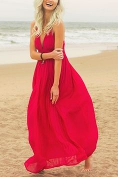 a489086a3 She + Sky Summer Crimson Maxi Dress - Alternate List Placeholder Image Red  Summer Dresses