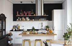 Libertads offene Küche ist funktionell und lädt zum Verweilen ein.