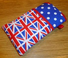 Handmade iPod Touch, iPhone 3 4 4S or HTC Desire Cover in Union Jack Fabric by Clarebabe's Crafts on Folksy £8.50
