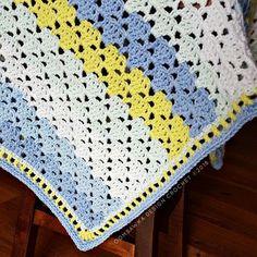 BeautifulBabyBoyBlanket corner OombawkaDesignCrochet